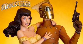 Estátua Rocketeer & Betty das Histórias em Quadrinhos de Dave Stevens