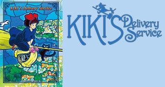 Quebra-Cabeça Vitral O Serviço de Entregas da Kiki Artcrystal (Hayao Miyazaki)