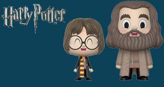 Dupla de Bonecos Harry Potter e Hagrid VYNL