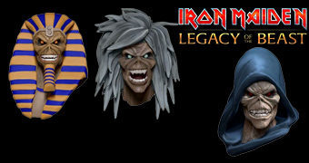 Chaveiros Iron Maiden Eddie Head do Game Legacy of the Beast