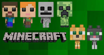 Bonecos Pop! 8-bit do Game Minecraft