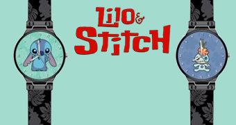 Relógios de Pulso Stitch e Scrump (Lilo & Stitch)