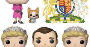 Bonecos Pop! da Família Real Britânica