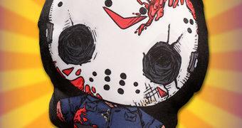 Os Novos Bonecos/Almofadas de Pano Mezco Flatzos com Jason, Freddy e Chucky
