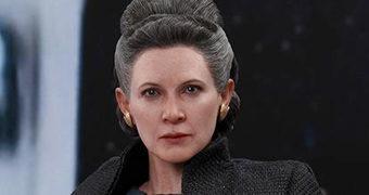 Leia Organa (Carrie Fisher) em Star Wars: Os Últimos Jedi – Action Figure Perfeita 1:6 Hot Toys