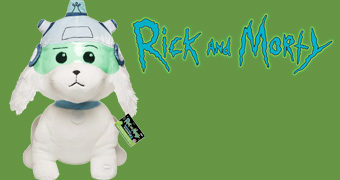 Cachorro de Pelúcia Snowball (Snuffles) Galactic Plush da Série Rick and Morty