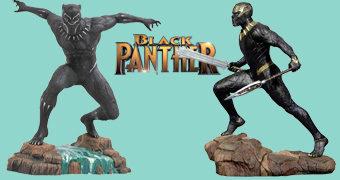 Estátuas Pantera Negra e Killmonger Marvel Gallery