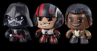 Bonecos Star Wars Mighty Muggs Série 2 com Finn e Poe
