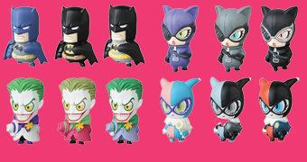 Nova Linha de Mini-Figuras DC Comics MVP (Micro Vinyl Pleasure) da Medicom Japão