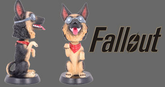 Boneco Bobble Head Cão Dogmeat do Game Fallout 4