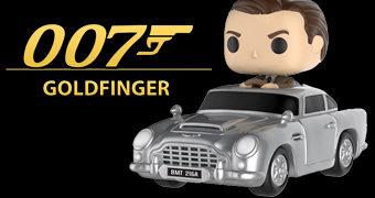 Boneco Pop! Rides James Bond com Aston Martin (007 Contra Goldfinger)