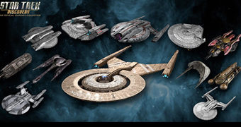 Star Trek: Discovery Starships Collection com 12 Naves Klingon e da Federação (Eaglemoss)