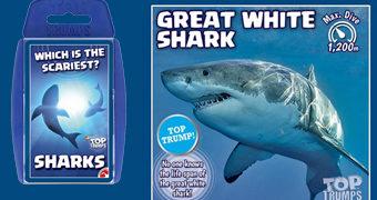 Super Trunfo Sharks com 30 Tubarões Diferentes!
