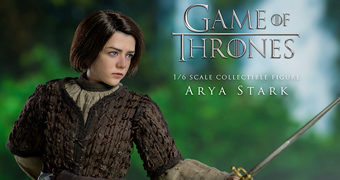 Arya Stark (Maisie Williams) em Game of Thrones – Action Figure Perfeita 1:6 Threezero