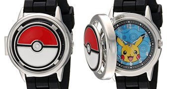 Relógio de Pulso Analógico Pokémon Pokeball Spinner