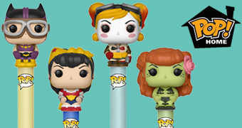 Canetas Funko Pop! Pen DC Bombshells Estilo Pin-Up Anos 40