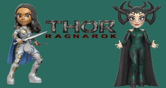 Bonecas Rock Candy Thor Ragnarök: Valkrie e Hela