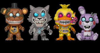 Bonecos Pop! do Game de Terror Five Nights at Freddy's