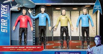 Sala de Teletransporte Clássica – Bonecos Flexíveis Star Trek TOS