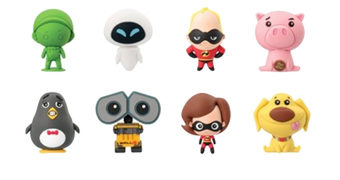 Chaveiros Disney/Pixar 3D Monogram Figural Keyrings Séries 7 e 8