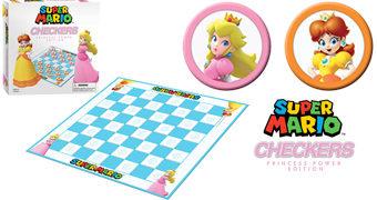 Jogo de Damas Super Mario das Princesas Peach e Daisy