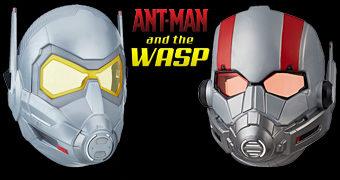 Máscaras do Homem-Formiga e da Vespa