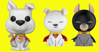 Super Bichos DC Comics Pop! e Dorbz: Supercão Krypto e Batcão Ace