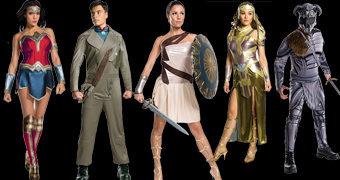 Fantasias Wonder Woman Movie com Mulher Maravilha, Diana, Hipólita, Ares e Steve Trevor (Carnaval 2018)