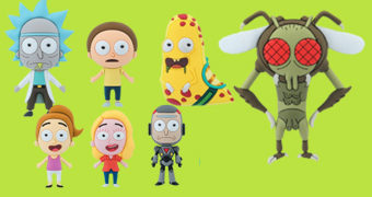 Chaveiros Rick and Morty 3D Monogram Figural Keyrings