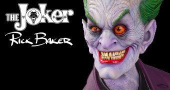 Busto 1:1 Coringa (Joker) Desenhado, Esculpido e Pintado por Rick Baker