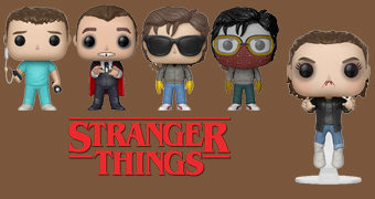 Bonecos Stranger Things Pop! Wave 5: Eleven, Hopper, Bob, Billy e Steve