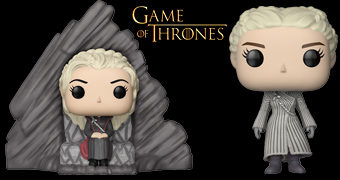 Game of Thrones Pop! Série 8: Daenerys no Trono de Dragonstone e o Cavaleiro das Cebolas Davos Seaworth