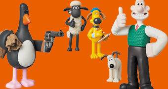 Bonecos Aardman Animations UDF com Wallace & Gromit, Feathers McGraw, Bitzer e a Ovelha Shaun
