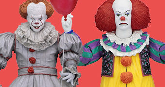 Action Figures IT Neca Ultimate: Pennywise Tim Curry e Pennywise Bill Skarsgard