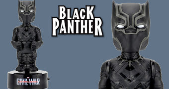 Boneco Black Panther Body Knocker Movido a Energia Solar
