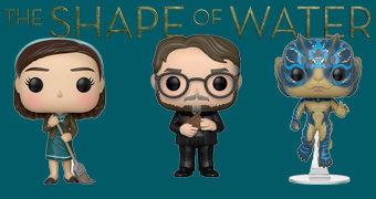 Bonecos Pop! A Forma da Água: Elisa, Criatura e Guillermo del Toro (Oscar 2018)