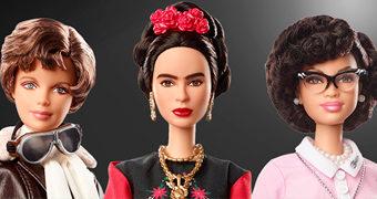 Barbie The Inspiring Women: Amelia Earhart, Katherine Johnson e Frida Kahlo