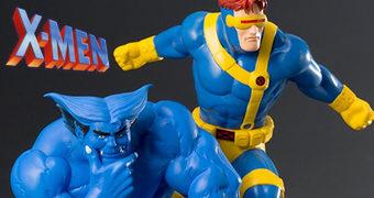 Ciclope e Fera ArtFX+ X-Men: Animated Series – Estátuas Kotobukiya 1:10
