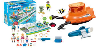 Playmobil Fundo do Mar com Motor Elétrico: Lancha e Submarino