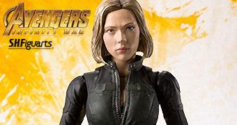 Action Figure S.H. Figuarts Viúva Negra (Scarlett Johansson) em Vingadores: Guerra Infinita
