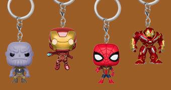Chaveiros Vingadores: Guerra Infinita Funko Pocket Pop!