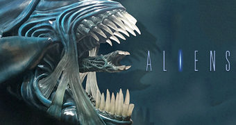 Alien Queen Life-Size – Escultura de Parede 1:1 do Filme Aliens de James Cameron