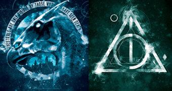 Quebra-Cabeças Harry Potter: Relíquias da Morte com 550 Peças e Thestral com 1.000 Peças
