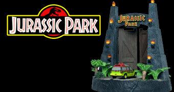 Estátua Portão Parque dos Dinossauros do Filme Jurassic Park