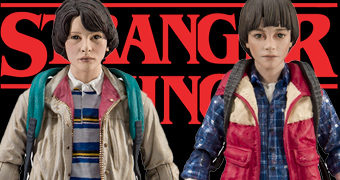 Action Figures Stranger Things: Mike Wheeler e Will Byers