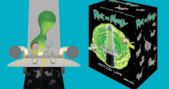 Rick and Morty Space Cruiser Lava Lamp (Lâmpada de Lava)