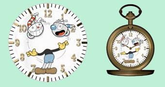 Relógio de Bolso do Game Cuphead