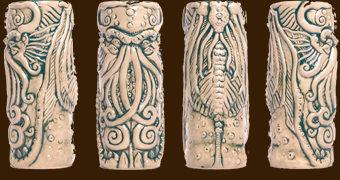 Caneca Tiki Mug do Devorador de Mundos Cthulhu (H.P. Lovecraft)