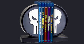 Punisher Logo Bookends – Apoios de Livros do Justiceiro