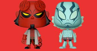Dupla de Bonecos Hellboy e Abe Sapien VYNL